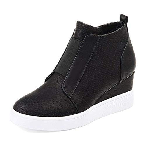 Talon Chaussures Mesh Minetom Mode Ankle Noir Automne Boots Plates Femme En Compensé Hiver Plateforme Baskets Sneaker Respirant xwq0PFqU4