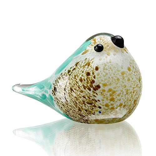 SPI Home Art Glass Blue and Brown Bird