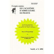 Vol.81-no.2-1995 Payen et Enzymologie.comport.plantes
