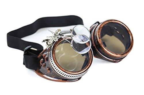 Welding Punk Glasses Cosplay (Bronze) - 9