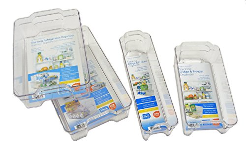 Dial Industries Refrigerator Organizer Stackable Bins, Set of 4