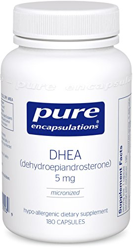 Pure Encapsulations - DHEA (Dehydroepiandrosterone) 5 mg - Micronized Hypoallergenic Supplement - 180 Capsules