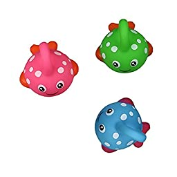 Bath Toy Fishing Game with Cute Spotted Fish and Fishing Rod Best Gift for Children Boys Girls Bathtub Fun Time(Color Vary)
