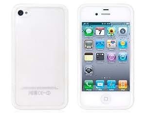 TR Caso Dual Color protectora para iPhone 4/4S (blanco y transparente)