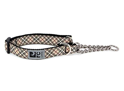 "RC Pets 3/4"" Martingale Training Collar, Small, Tan Tartan"