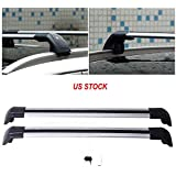 MotorFansClub Lockable Top Roof Rack Cross Bar Crossbar Fits for Volvo XC60 2013 2014 2015 2016 2017 2018