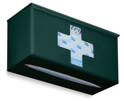 TrippNT 52400 Ultimate Medical Cross Single Hunter Green Dual Dispensing Glove Holder , 10