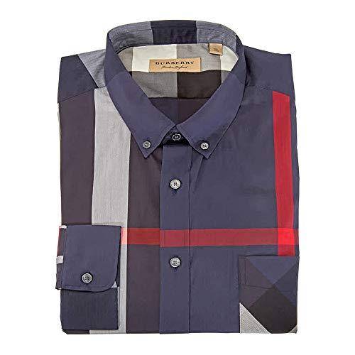 BURBERRY Men's Thornaby Blue Check Shirt 2XL (Burberry Farbe)