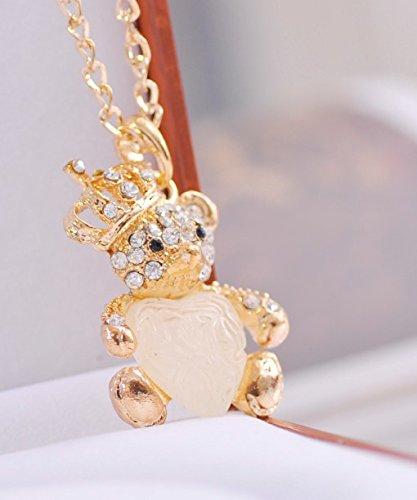 GigaMax(TM)Fashion sweet sweet heart bling rhinestone double bear (Katana Bling)