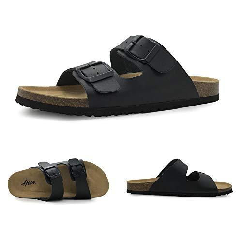 030d44776ea Amazon.com | FUNKYMONKEY Women's Comfort Slides Double Buckle Adjustable  EVA Flat Sandals | Flats