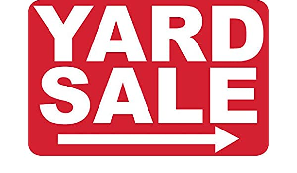 Amazon com: 2 - Yard Sale -> - Signs- #PS-420: Electronics