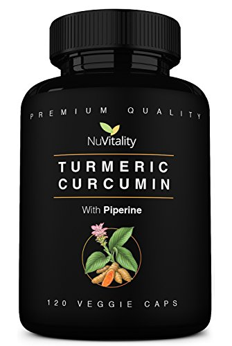 Turmeric Curcumin with Piperine (Black Pepper Extract) - 120 Veggie Capsules - Premium Quality with 95% Standardized Curcuminoids - High Absorption & Potency - Pain Relief & Joint Support Supplement