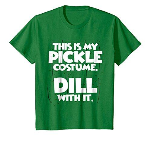 Kids Pickle Halloween Costume Shirt Easy Funny Women Men Kids 12 Kelly Green -