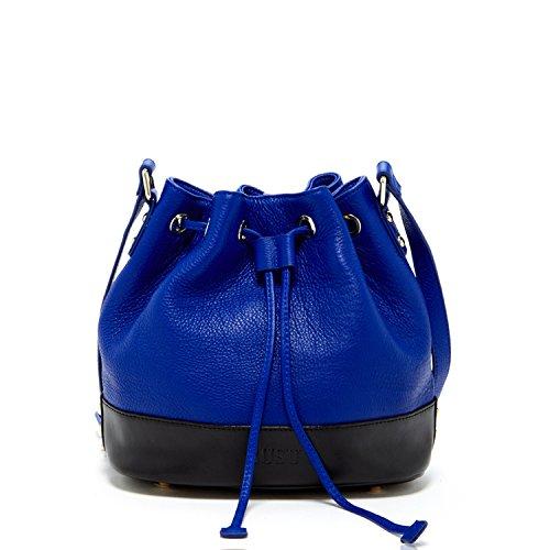 Blue Leather Handbags - 6