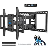"Full Motion TV Wall Mount Bracket for Big TVs Up to 75"", UL listed Wall Mount TV Bracket, Fits 16, 18, 24 inch Studs with Articulating Arm, VESA 600x400mm, 132 lbs MD2298 by Mounting Dream"