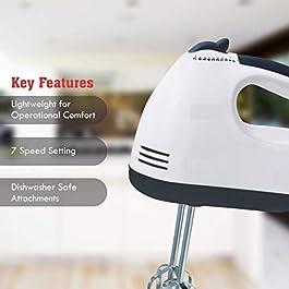 Aalok Enterprise 300W Electric Beater Hand Held High Speeds Roasting Appliances Cream Mixer Kitchen Baking Tools
