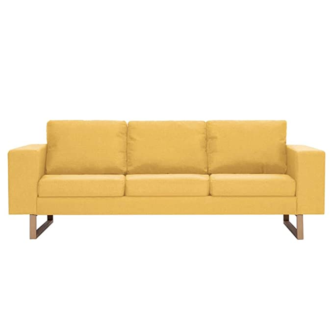 Tidyard- Juego de sofás 2 Juegos de sofás Amarillos de ...