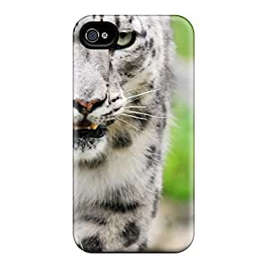 Tpu Case For Iphone 4/4s With Beauti Snowleopard