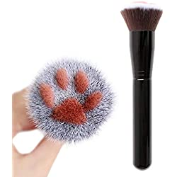 Sayhi Cat Claw Shape Multifunctional Makeup Brush Concealer Eyeshadow Brush Cosmetic Foundation Tools Make Up Kits(Black,Free size)
