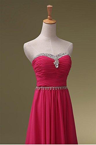 Pailletten Hot lang Abendkleider Pink förmlichen Maxi Trägerloses Beauty Emily P0qEw7Tf