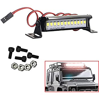 Metal Roof Lamp 18LED Light Bar for 1//10 RC Crawler Traxxas Trx-4 SCX10 D90 4WD