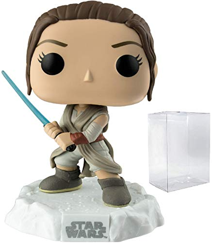Star Wars: The Force Awakens - Rey with Lightsaber Funko Pop! Vinyl Figure (Includes Compatible Pop Box Protector Case)