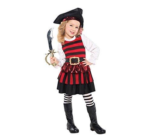 Christy's Toddler Girls Little Lass Pirate Costume (3-4 -