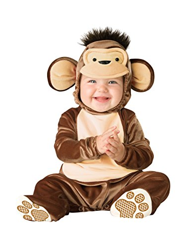 InCharacter Costumes Baby's Mischievous Monkey Costume, Brown/Cream, -