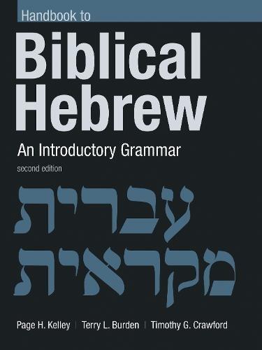Handbook to Biblical Hebrew: An Introductory - Eerdmans Handbook