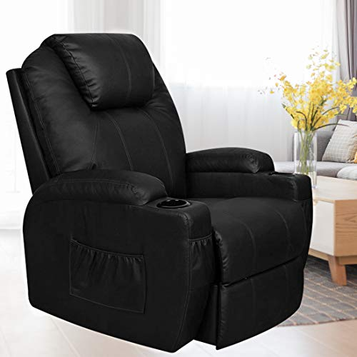 MAGIC UNION  Power Lift Massage Recliner Heated Vibrating Chair with 2 Controls Wheels - - Lift Hoyer Power