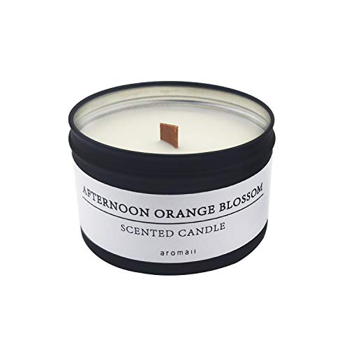 (Soy Aromatherapy Scented Candles, 5.3oz Tin Candle, Orange Blossom)