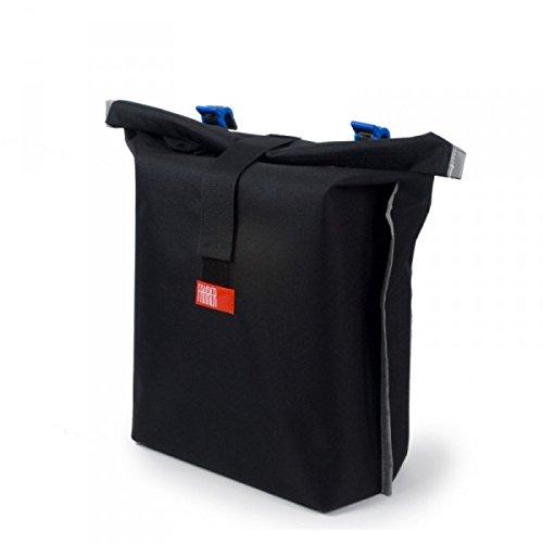 Fahrer Fahrradtasche Konsum wasserabweisendes Polyester schwarz mit Reflektoren