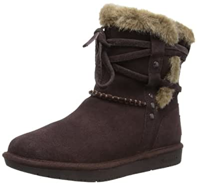 Skechers Women's Shelbys-Short Ankle Boot,Chocolate,7.5 M US