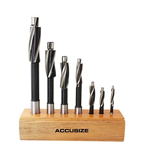 AccusizeTools - Metric H.S.S. Solid Cap Screw Counterbore Set, 3 Flute, Straight Shank, 7 Pcs/Set, 508S-007M by Accusize Industrial Tools