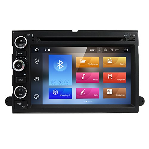Hizpo Android 8.0 4+32GB Car GPS Navigation Fit for Ford F150 F250/350/Edge/Fusion/Mustang in Dash DVD Player Stereo Radio BT SWC WiFi 4G Support DVR TV DAB+TPMS