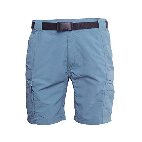 Alpha Nylon Shorts - Coleman Men's Hiking Cargo Shorts with Belt Ideal for Inclement Weather (X-Large, Alpha Blue)