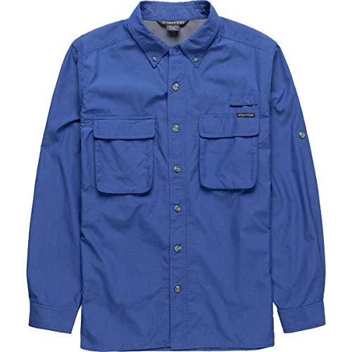 ExOfficio Men's Air Strip Long Sleeve Button Down Shirts, Regatta, Large (Regatta Air)