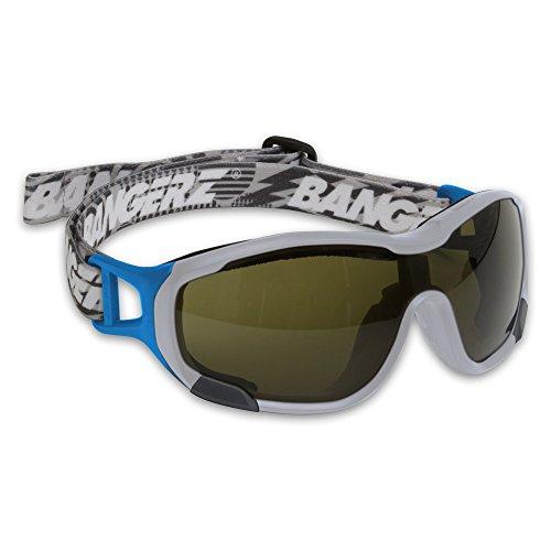 Bangerz ELITE Lacrosse and Field Hockey Goggles - White Frame - Green Lens