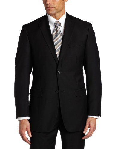 Geoffrey Beene Mens Black Solid Suit Separate Coat, Black, 40 Long by Geoffrey Beene (Image #3)