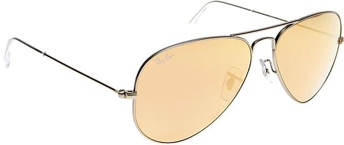 Ray-Ban 3025 Aviator - Gafas de sol (metal, espejadas, no polarizadas)