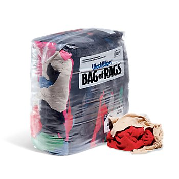 New Pig T-Shirt 3 Bags Compressed 25 Lbs//Bag Approximately 9 Rags per lb. WorkWipes New Colored T-Shirt in Bag New Material Rags