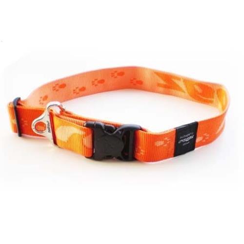 Rogz Alpinist Big Foot Orange Dog collar - XXL