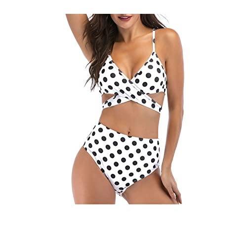 ea34b0874078d 2018 Europe and America Wave Bikini Bikini New High-Waist Swimsuit Amazon  Cross-Country