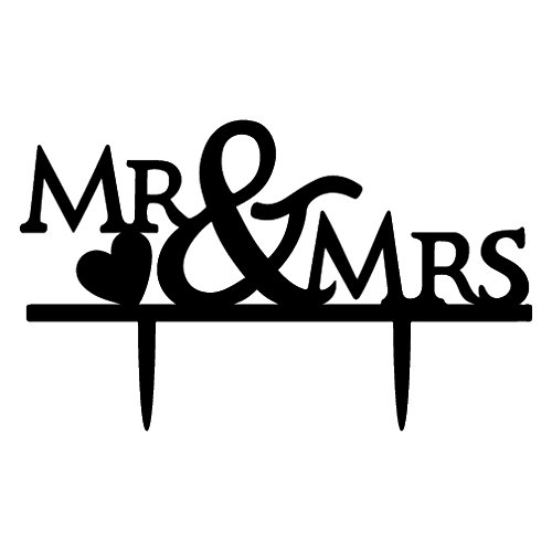 Cake Toppers,2/group black ()