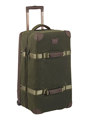 Burton Wheelie Double Deck Travel Bag, Forest Night Waxed Canvas, One Size