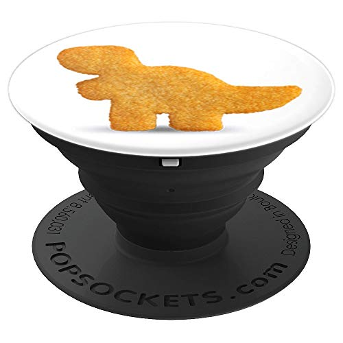 - Dino T-Rex Chicken Nugget | Funny Dino Tyrannosaurus - PopSockets Grip and Stand for Phones and Tablets