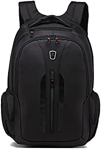 SLOTRA Business Laptop Backpack 15.6 inch Travel Laptop Backpack Water Resistant Laptop Bag Black
