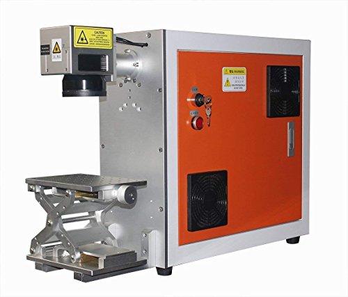 TEN-HIGH Portable Fiber Laser Marking Machine 30W 120V metal laser engraver