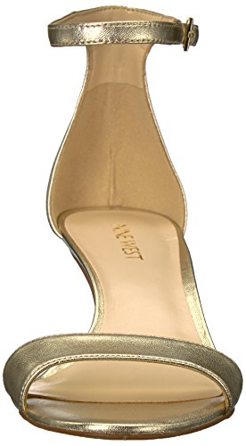 Metallic West Sandal Metallic Women Nine Leisa Heeled Light Gold RtBnAzqW7z