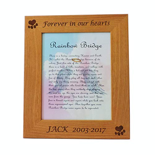 Forever Me Gifts Dog Memorial Picture Frame with Customized Engraving (8x10 ()